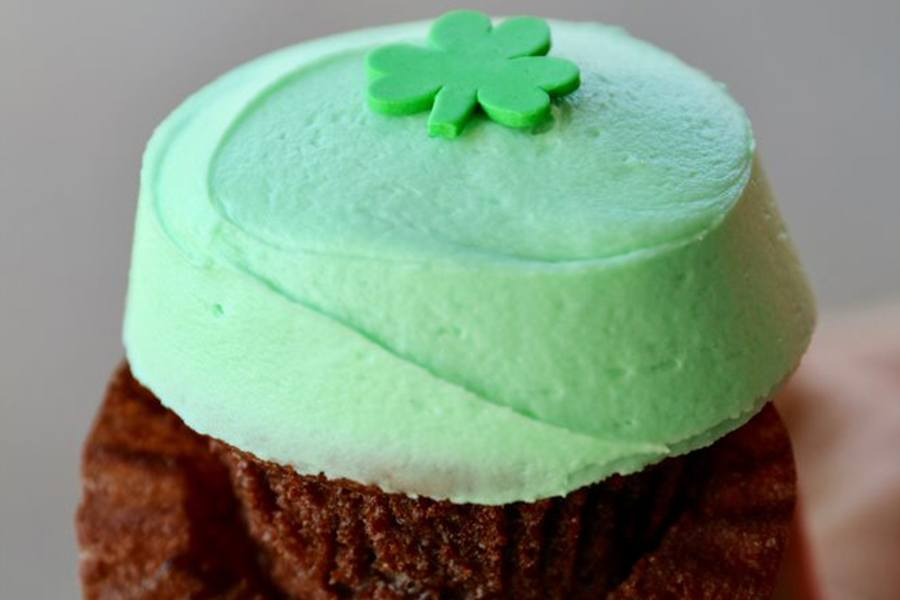 New Shamrock Cupcake at Sprinkles Cupcakes, Cookies and Ice Cream