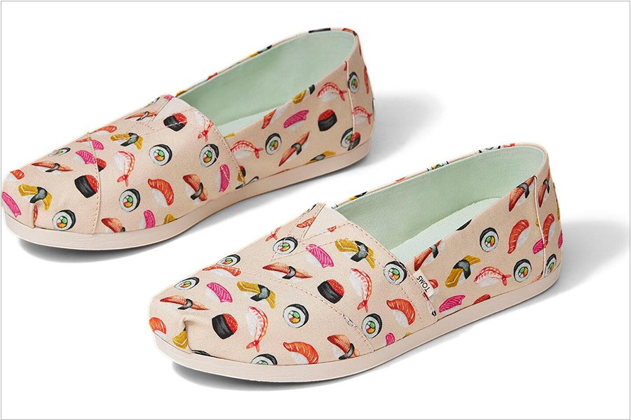 Limited-Edition Sushi Shoes at TOMS