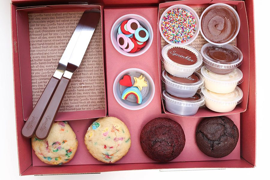 DYO Cupcakes at Home with Sprinkles Cupcakes, Ice Cream and Cookies