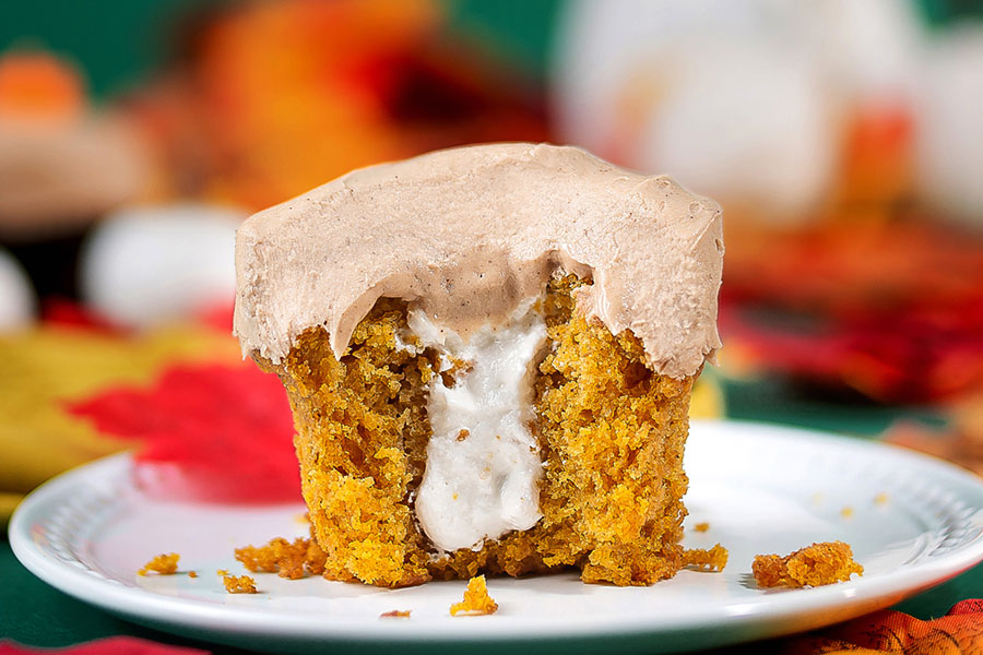 Fall Pumpkin Cupcake at Sprinkles Cupcakes, Ice Cream and Cookies
